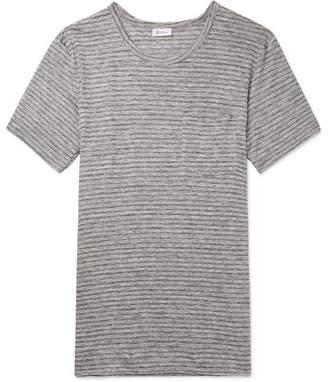 Schiesser Helmut Striped Mélange Linen T-Shirt