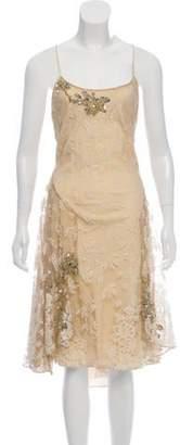 Temperley London Lace Midi Dress Beige Lace Midi Dress