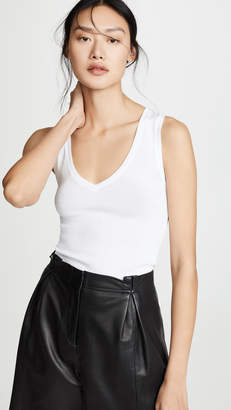 Vince Sleeveless V Neck T-Shirt