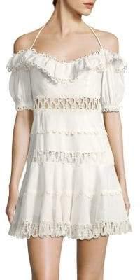 Zimmermann Melody Off-The-Shoulder Mini Dress