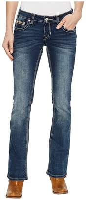 Rock and Roll Cowgirl Rival Bootcut in Dark Vintage W6-5078 Women's Jeans