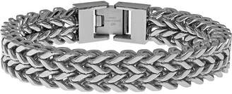 JCPenney FINE JEWELRY Mens Stainless Steel Wheat Chain Bracelet
