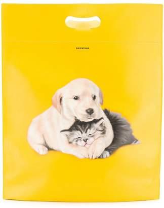 Balenciaga puppy and kitten Supermarket bag