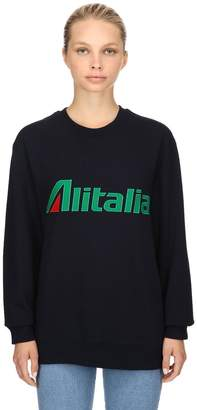 Alberta Ferretti Alitalia Cotton Jersey Sweatshirt