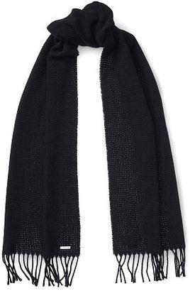 Ralph Lauren Basket-Weave Cashmere Scarf $90 thestylecure.com