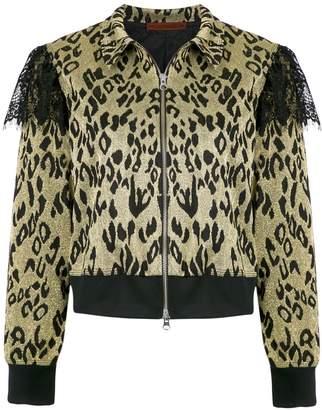 À La Garçonne leopard glitter jacket