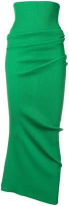 Marni extreme high waist ribbed skirt