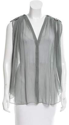 Amen Embellished Silk Top w/ Tags