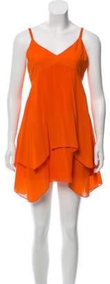 Alice + Olivia Sleeveless Silk Mini Dress