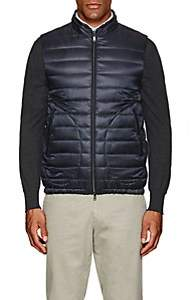 Herno MEN'S REVERSIBLE DOWN-QUILTED VEST-NAVY SIZE S