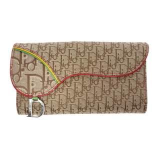 Christian Dior Vintage Beige Cloth Wallets