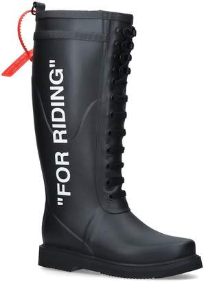 Off-White Off White 'FOR RIDING' Wellington Boots