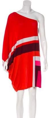 Christian Dior One-Shoulder Wool Dress