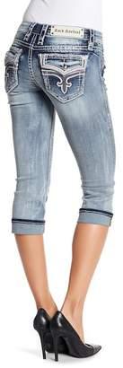 Rock Revival Crystal Embellished Capri Jeans