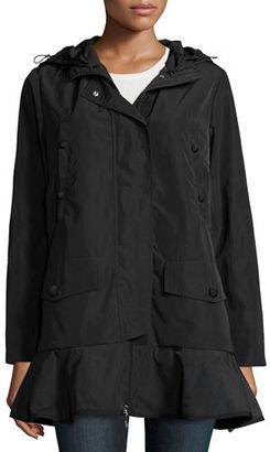 Moncler Chevaine Flounce-Hem Jacket $790 thestylecure.com