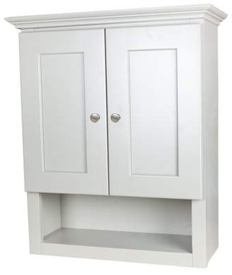 Ghi White Shaker Bathroom Wall Cabinet with 2 shelves