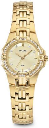 Pulsar Womens Gold-Tone Dress Watch PTC390