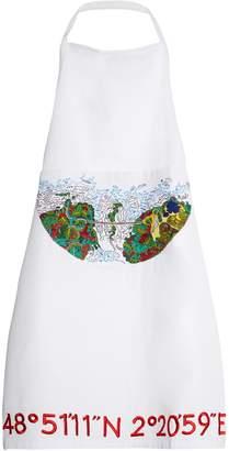 KILOMETRE PARIS Cuixmala Mexico embroidered cotton apron