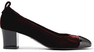 Lanvin Velvet And Patent-leather Pumps - Merlot