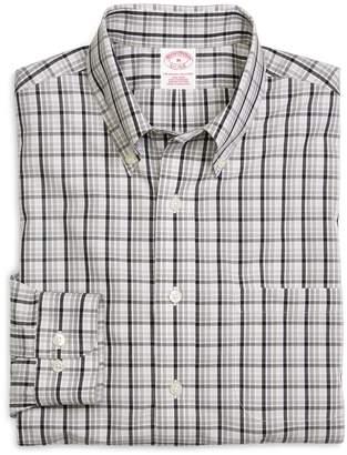 Brooks Brothers Supima Cotton Regular Fit Non-Iron Tonal Check Sport Shirt