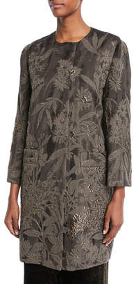 Etro Floral-Cloque Topper Coat