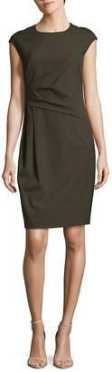Lafayette 148 New York Women's Sleeveless Crewneck Cotton Blend Dress