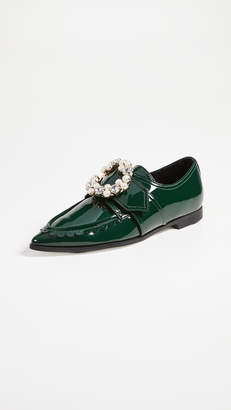 Suecomma Bonnie Jewel Detailed Pointy Loafers