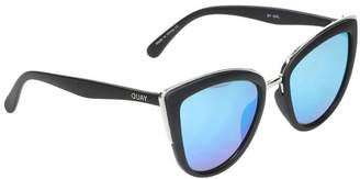 Quay Women's Mirrored My Girl QW-000065-BLK/BLUE Cat Eye Sunglasses