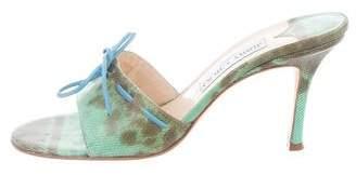 Jimmy Choo Lizard Slide Sandals