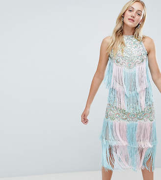 A Star Is Born Tall A Star is Born Tall Embellished Midi Dress with Tassels