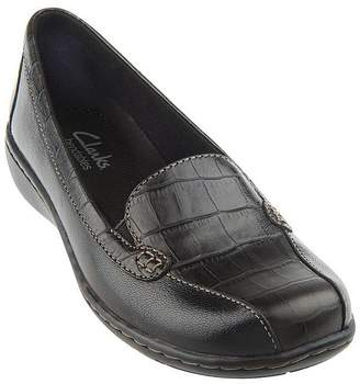 Clarks Croco Embossed Slip-on Loafers - Bayou