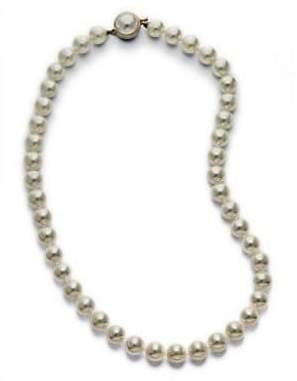 "Majorica 8MM White Pearl Strand Necklace/16"""