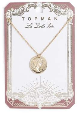 Topman Mens Roman Gold Coin Necklace*