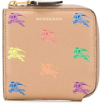 Burberry multicoloured knight motif purse