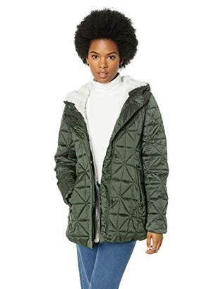 Steve Madden Women's Plus Size Glacier Shield Parka Jacket