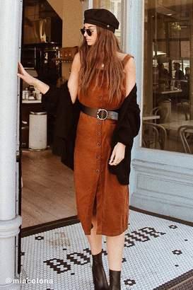 Urban Outfitters Cordelia Corduroy Midi Dress