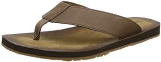 Timberland Men's Wild Dunes Lthr flip flops, Brown ()