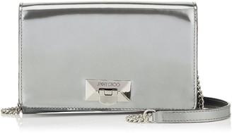 Jimmy Choo CORINA Silver Glass Mirror Leather Mini Bag