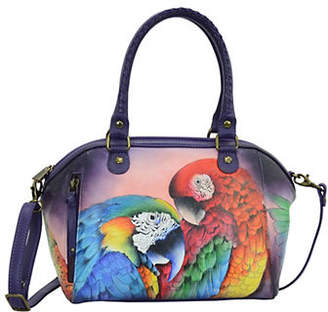 Anuschka Bird Mini Convertible Leather Satchel