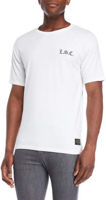 Levi's White Gothic Checker Back Tee