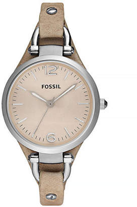 Fossil Georgia Sand Leather Watch