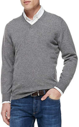 Brunello Cucinelli Cashmere V-Neck Pullover Sweater