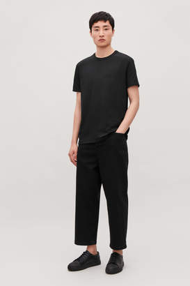 Cos RIBBED-NECK COTTON T-SHIRT
