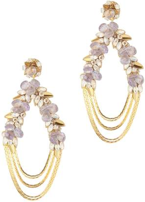 Deepa Gurnani Penelope Floral Chain Earrings