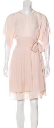Morgane Le Fay Pleated Knee-Length Dress