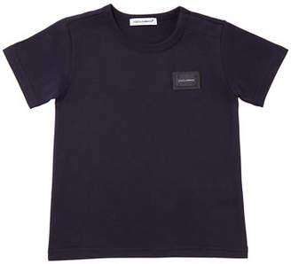 Dolce & Gabbana Short-Sleeve Logo Patch Tee, Size 12-30 Months