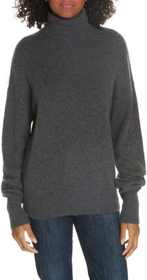 Theory Cashmere Drop Shoulder Turtleneck Sweater
