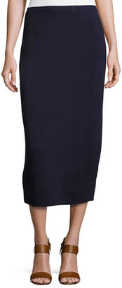 Eileen Fisher Silk Organic Cotton Midi Pencil Skirt $218 thestylecure.com