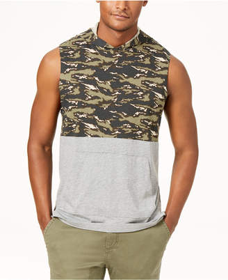 American Rag Men's Colorblocked Sleeveless Hoodie