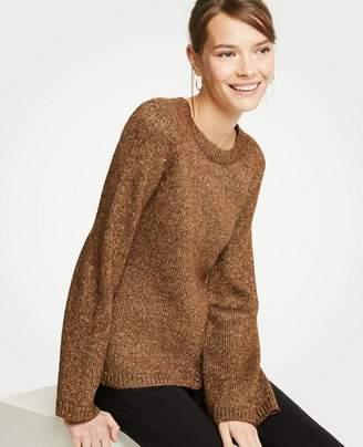 Ann Taylor Metallic Flare Sleeve Sweater